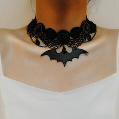 Bat Shaped Halloween Gothic Alloy Lace Necklaces