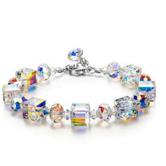 Shining Beautiful Alloy Crystal Bracelets 2 PCS