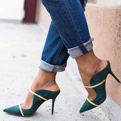 Women's PU Stiletto Heel Pumps Slippers With Buckle shoes
