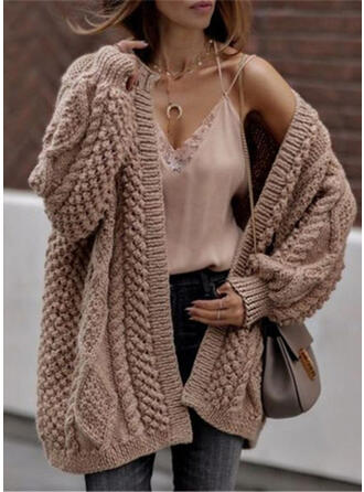 Solid Casual Cardigan
