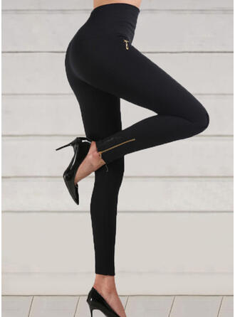 Solid Shirred Sexy Skinny Yoga Leggings