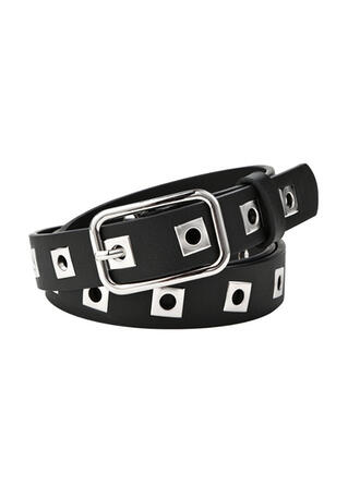 Square Buckle Alloy Leatherette Ladies' Unisex Girl's Belts